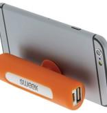 SWEEX Powerbank Lader Oranje 2500 mAh inclusief Kabel