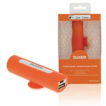 Powerbank Lader Oranje 2500 mAh inclusief Kabel