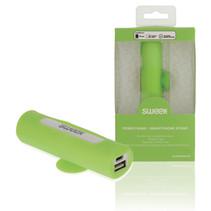 Powerbank Lader Groen 2500 mAh inclusief Kabel