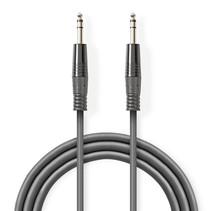Jack AUX 6.3 mm Stereo - Signaal - Instrument Audio kabel Gebalanceerd 1.5 meter Grijs