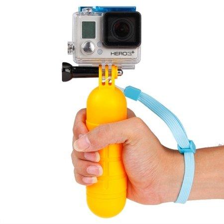 Puluz Drijvend handvat GoPro - Bobber met anti slip  Geel