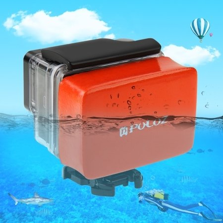 Puluz GoPro Floaty - Drijver Oranje met 3M sticker