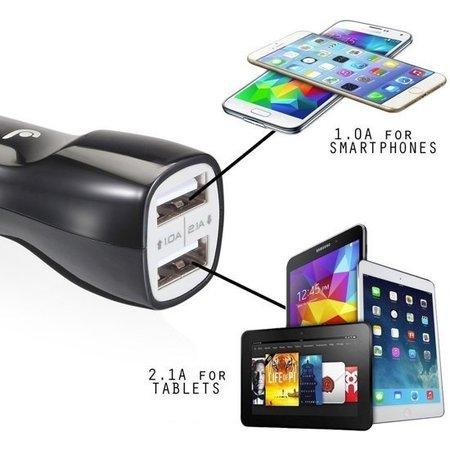 HAWEEL USB autolader 2 poorten 2.1 ampere Zwart