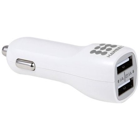 HAWEEL USB autolader 2 poorten 2.1 ampere Wit