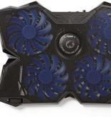 "Nedis Dr. Laptop - Notebook koeler 4 USB-Gevoede Ventilatoren | 15 - 19"" | USB-Hub"
