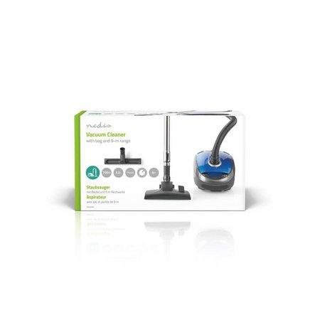 Nedis Dr. Stofzuiger 700 Watt - Zak 3.5 liter inhoud - inclusief Parketborstel - Blauw