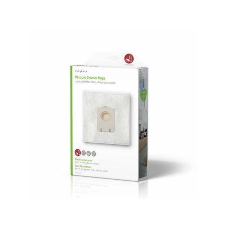Nedis Dr. Stofzuigerzak - stofzak voor stofzuiger - Geschikt voor Philips, Electrolux E200B