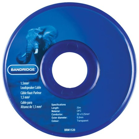 Nedis Dr. Bandridge Luidsprekerkabel op Rol 2x 1.50 mm 20.0 m Transparant