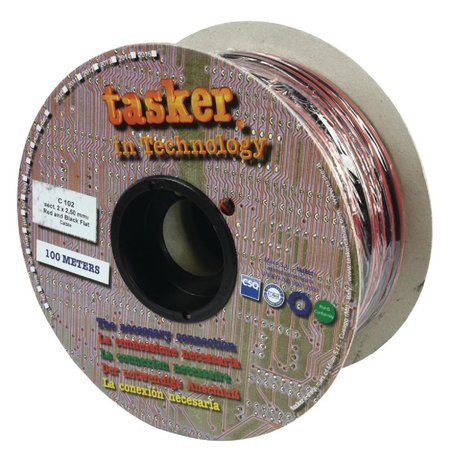 Nedis Dr. Tasker Luidsprekerkabel op Rol 2x 2.50 mm 100 m Zwart - Rood
