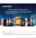 HAWEEL Samsung oplader - Samsung oplaad kabel - Micro USB  1 meter wit