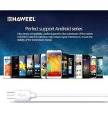 HAWEEL Micro USB kabel - oplaad kabel - oplader 2 meter Wit