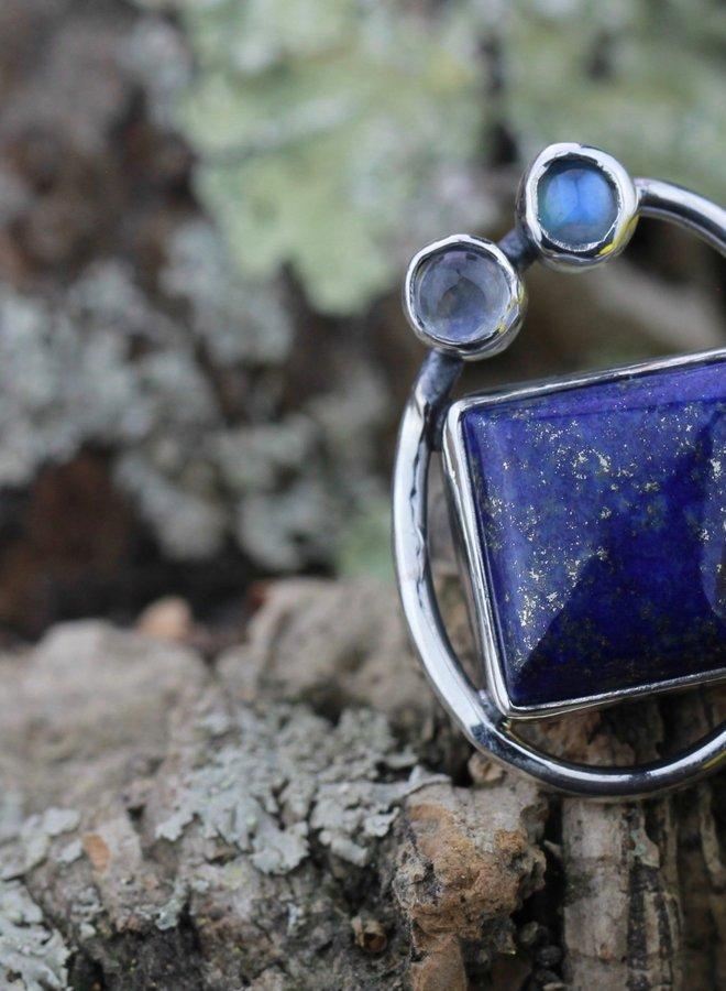 Ring Lapis Lazuli Modern Art