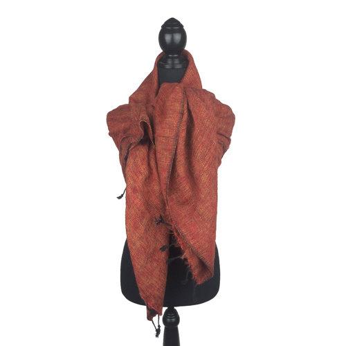 Sjaal bruinrood *Nieuwe Kleur*