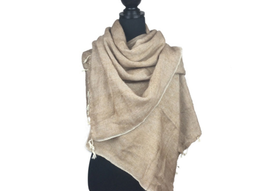 Sjaal taupe