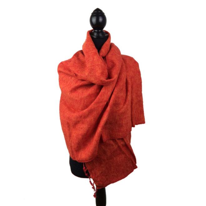Oranje!  De mooiste kwaliteit sjaals/omslagdoeken uit Nepal!
