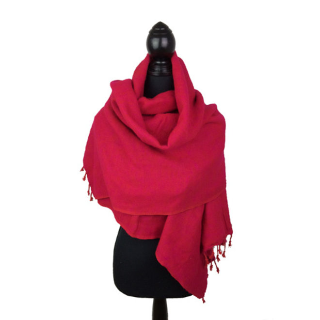 De mooiste kwaliteit sjaals uit Nepal! - Fuchsia