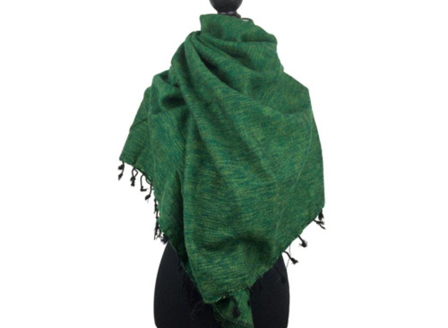 De mooiste kwaliteit sjaals/omslagdoeken uit Nepal! - Grasgroen