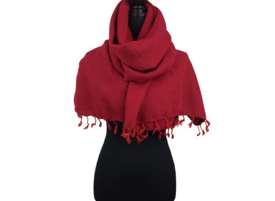 De mooiste kwaliteit sjaals/omslagdoeken uit Nepal! - Rood