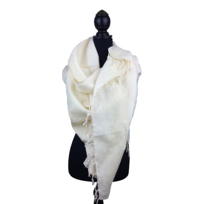 De mooiste kwaliteit sjaals/omslagdoeken uit Nepal! - Wit