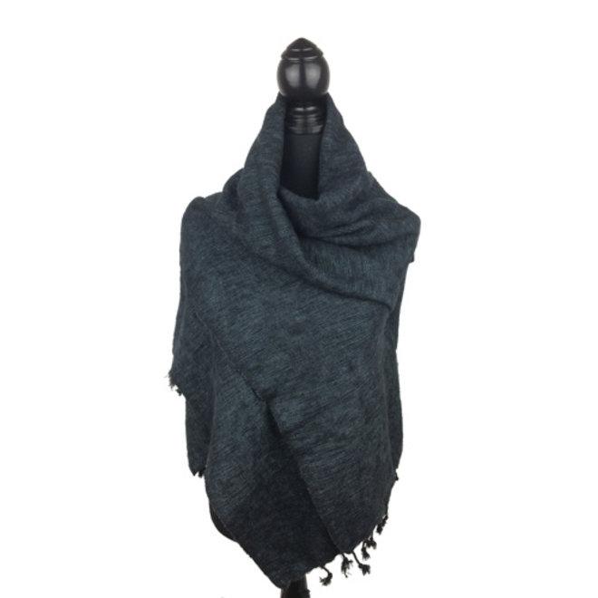 De mooiste kwaliteit sjaals/omslagdoeken uit Nepal! - Zwart