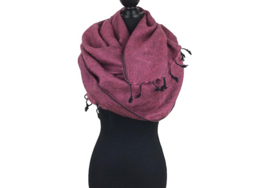 De mooiste kwaliteit sjaals/omslagdoeken uit Nepal! - Aubergine