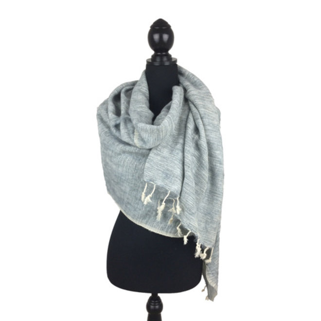 De mooiste kwaliteit sjaals/omslagdoeken uit Nepal! - Lichtgrijs