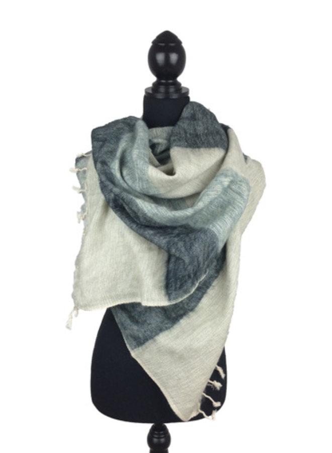 Sjaal grijstinten gestreept