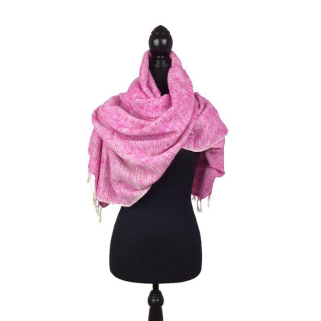 Omslagdoek roze uit Nepal
