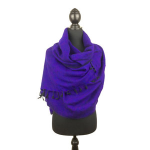Sjaal dieppaars