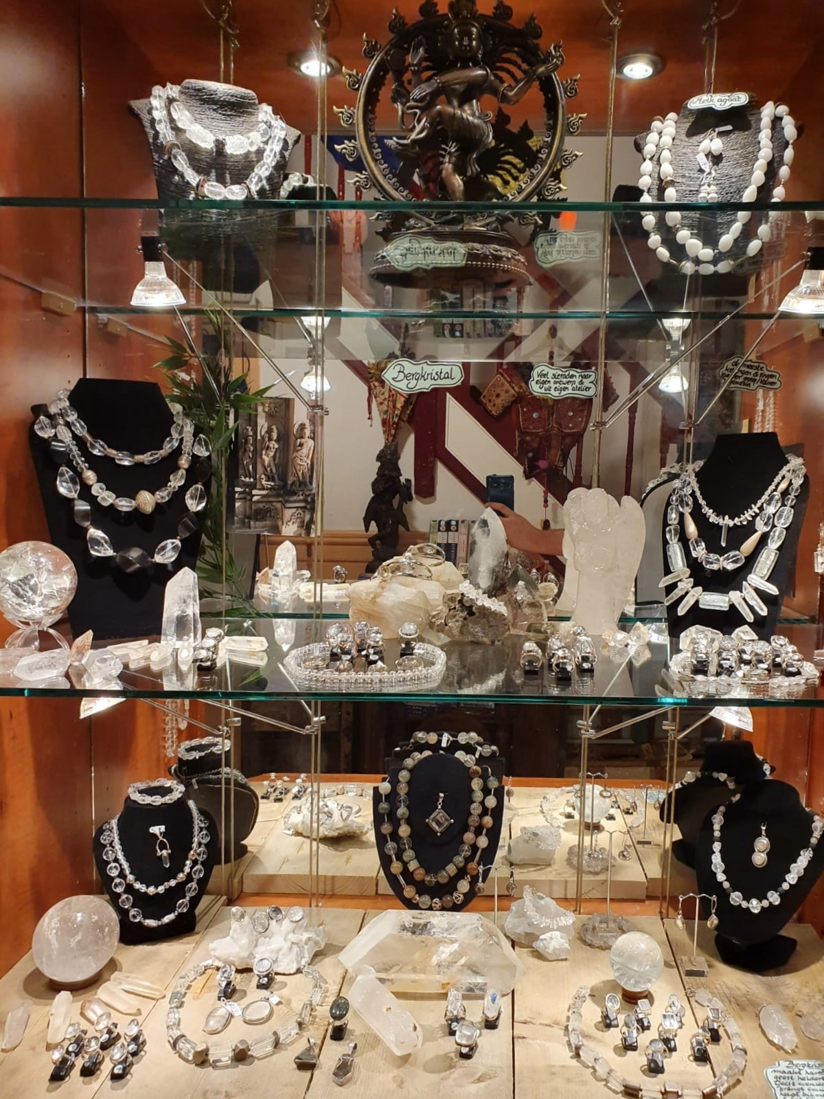bergkristal vitrine