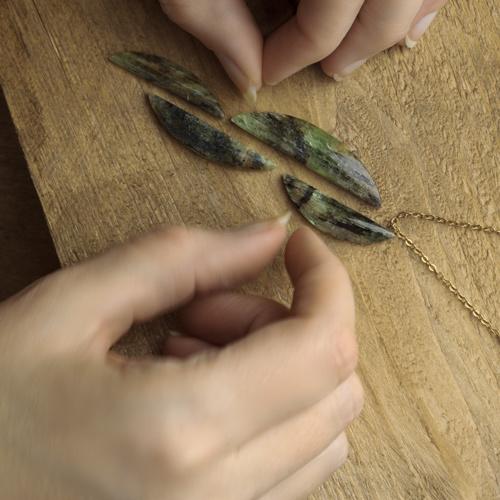 groene kyaniet stenen los