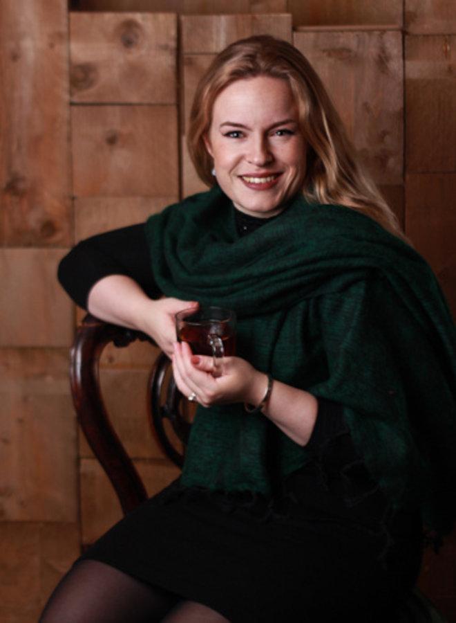 De mooiste kwaliteit sjaals uit Nepal! - Donkergroen