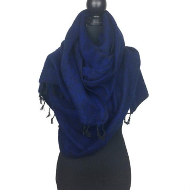 Omslagdoek donkerblauw uit Nepal