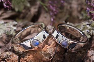 Couple ringen maansteen
