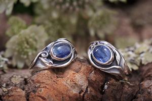 Couple ringen blauwe kyaniet