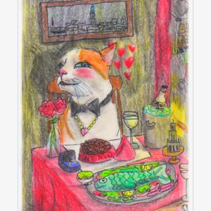 Valentijnskaarten - uit eten met Nemo - set van 5