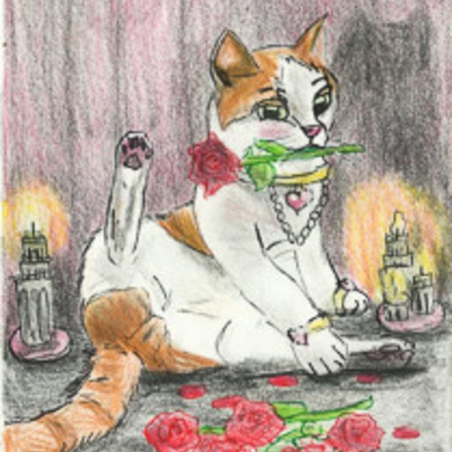 Preorder - Valentijnskaarten met Nemo en romantische rozen - set van 5