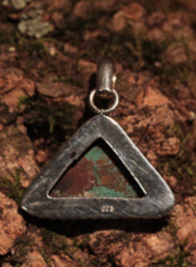 Hanger Chrysocolla Driehoek met decoratie