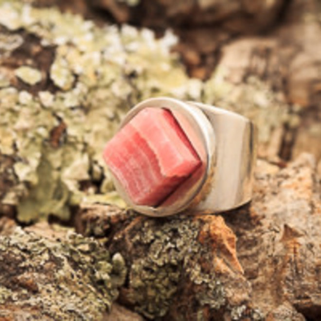 Rhodochrosiet ring 'Rhodon'