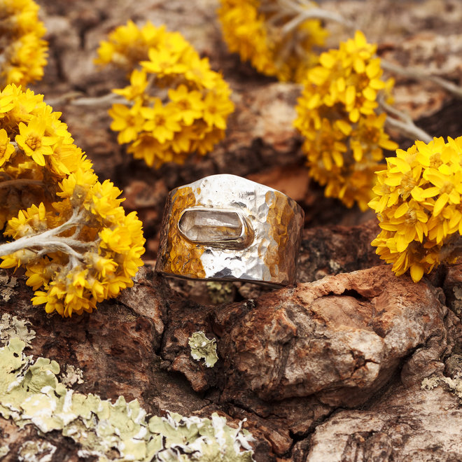 Robuuste Ring Bergkristal