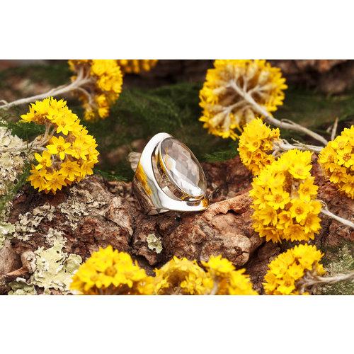 Ring Bergkristal Ovaal