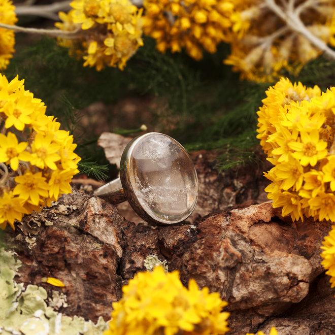Bergkristal ring 'Babak'