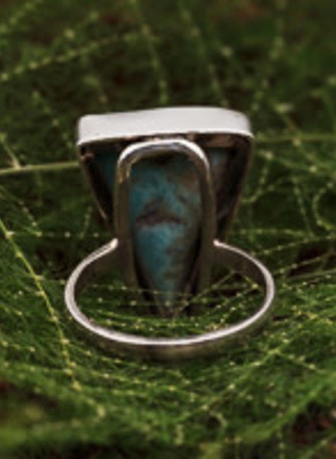 Ring Larimar Driehoek