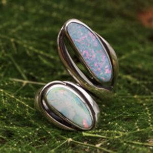 Australische Opaal Ring Vrije Vorm