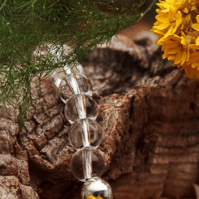 Bergkristal armband 'Lasse', gemaakt in eigen kralenatelier