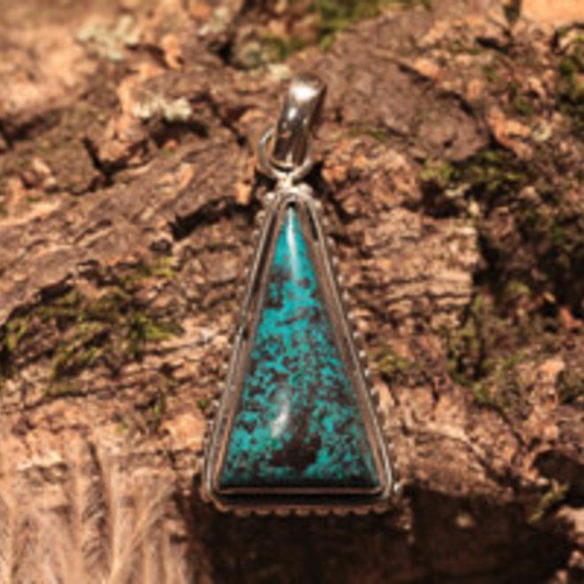Hanger Azuriet driehoek met decoratie