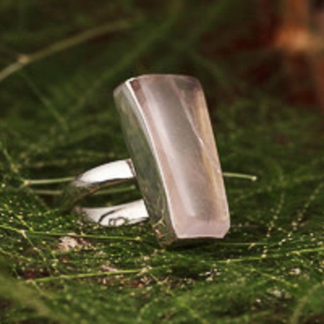 Ring Rozenkwarts Rechthoek Asymmetrisch