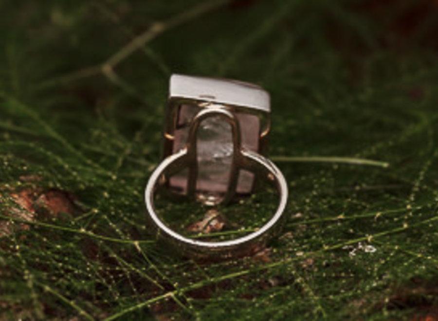 Ring Rozenkwarts Rechthoek