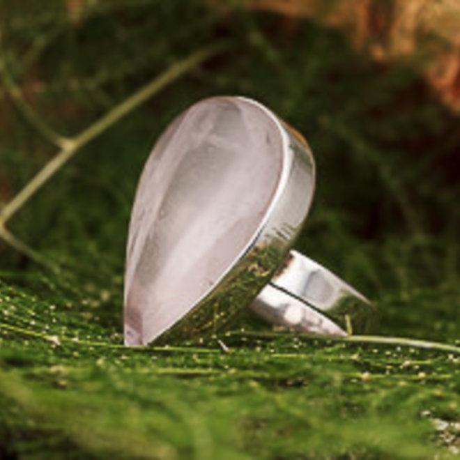 Ring Rozenkwarts Druppel