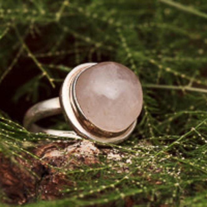 Rozenkwarts ring 'Baolina'